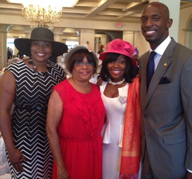 with Miramar Commissioner Wayne Messam and Dr. Venessa Walker
